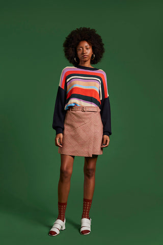 Sustainable striped sweater
