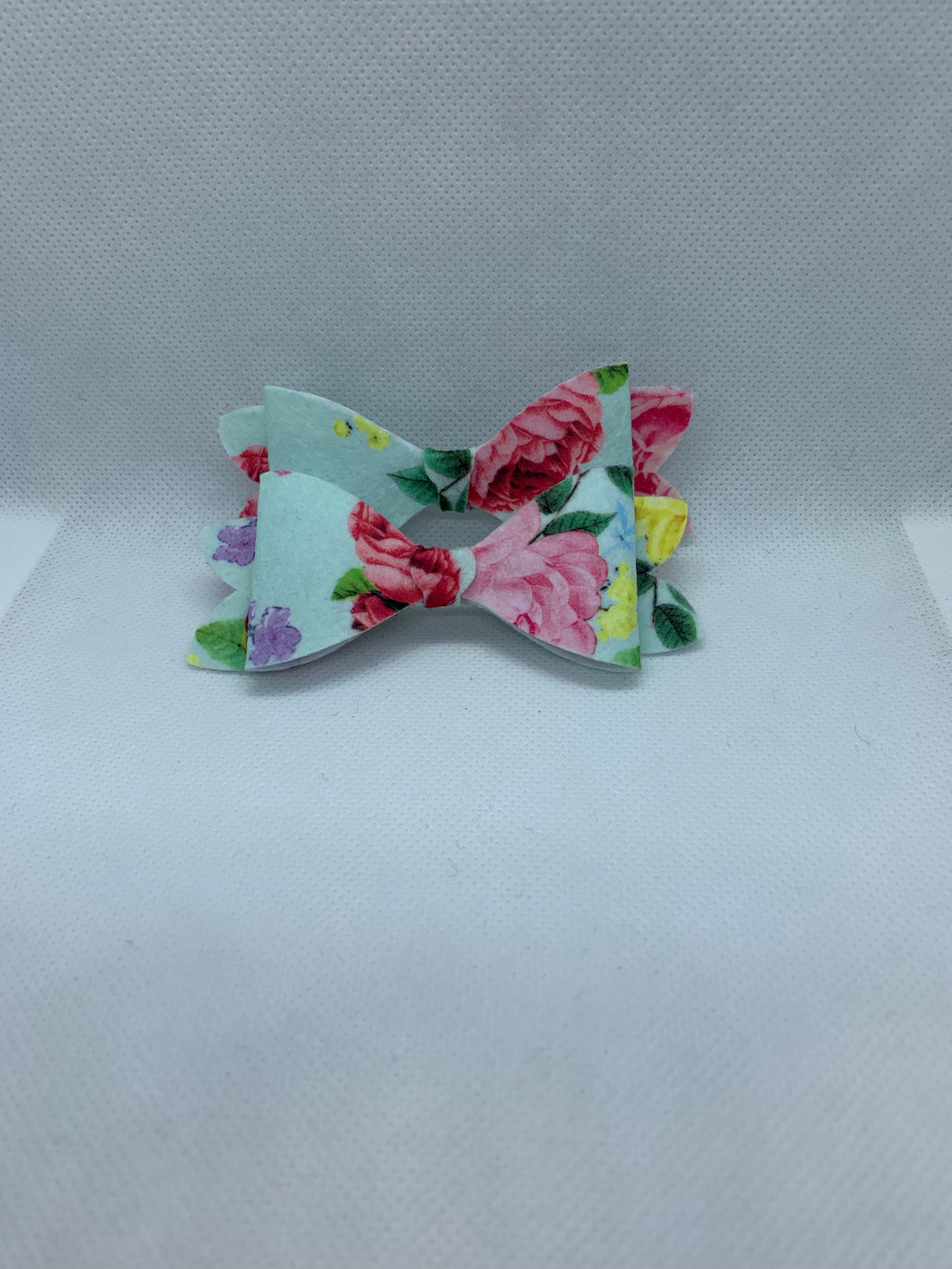 Light Blue Floral Hair bow clips