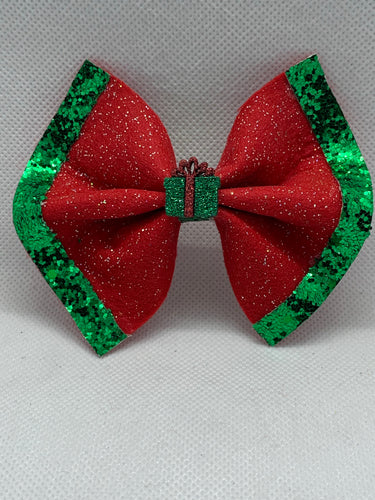 Holiday Hair bows w/ sparkle