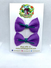 "Load image into Gallery viewer, Mini ""Zoe"" Pigtail Hair Bow Set"