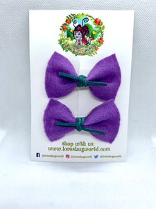 "Mini ""Zoe"" Pigtail Hair Bow Set"