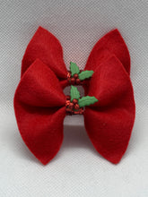 Load image into Gallery viewer, Mini Holiday Hair Bows