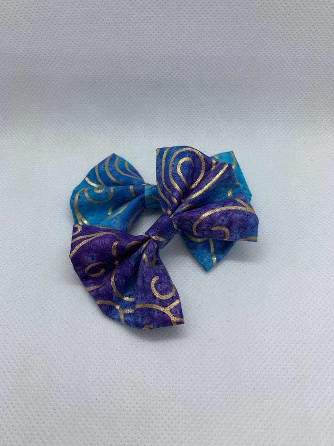 Arabian Nights Hair Bow Clips