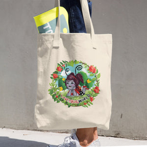 "Cotton Tote Bag ""Lovesbugworld"""
