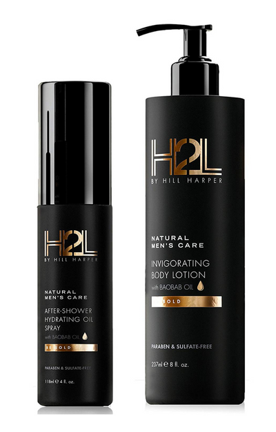 H2L DAILY AFTER-SHOWER HYDRATING OIL & MOISTURIZING LOTION COMBINATION •