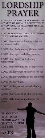 Lordship Prayer Bookmark