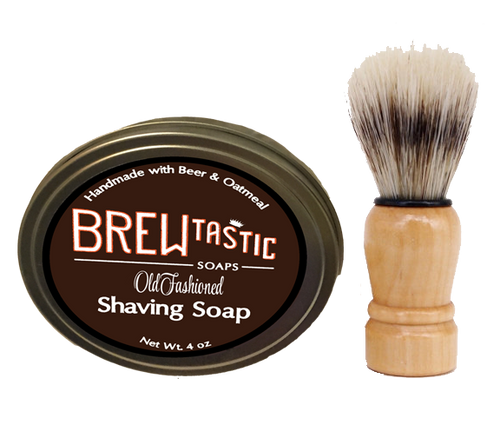 Beer & Oatmeal Shaving Soap Kit