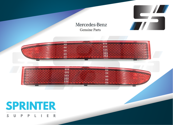 Genuine Mercedes Sprinter Bumper Reflector Pair 2019 9108204900 9108204800