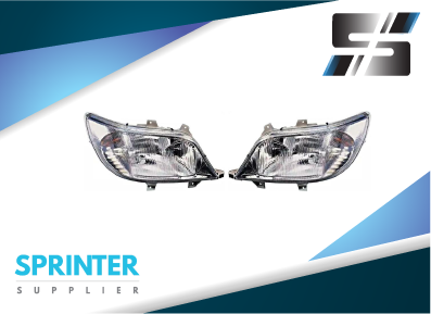 Mercedes Sprinter HEADLIGHT SET LH+RH PAIR Lamps 2000-2006 9018201461 9018201861 05124510AA 5104469AA