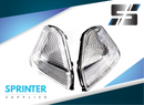 ]Sprinter Mirror Corner [Pair] Turn Signal Cover for Mercedes Dodge 2007 - 2017 0018229020 0018228920