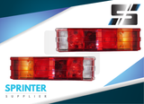 Sprinter Flatbed Tail Light [ASSEMBLY] Pair for Mercedes Dodge 1995 - 2006