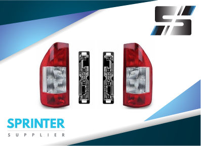 Mercedes Sprinter TAIL LIGHT REAR LAMP Pair with Sockets RH+LH 2000-2006  A9018201764 A9018201864