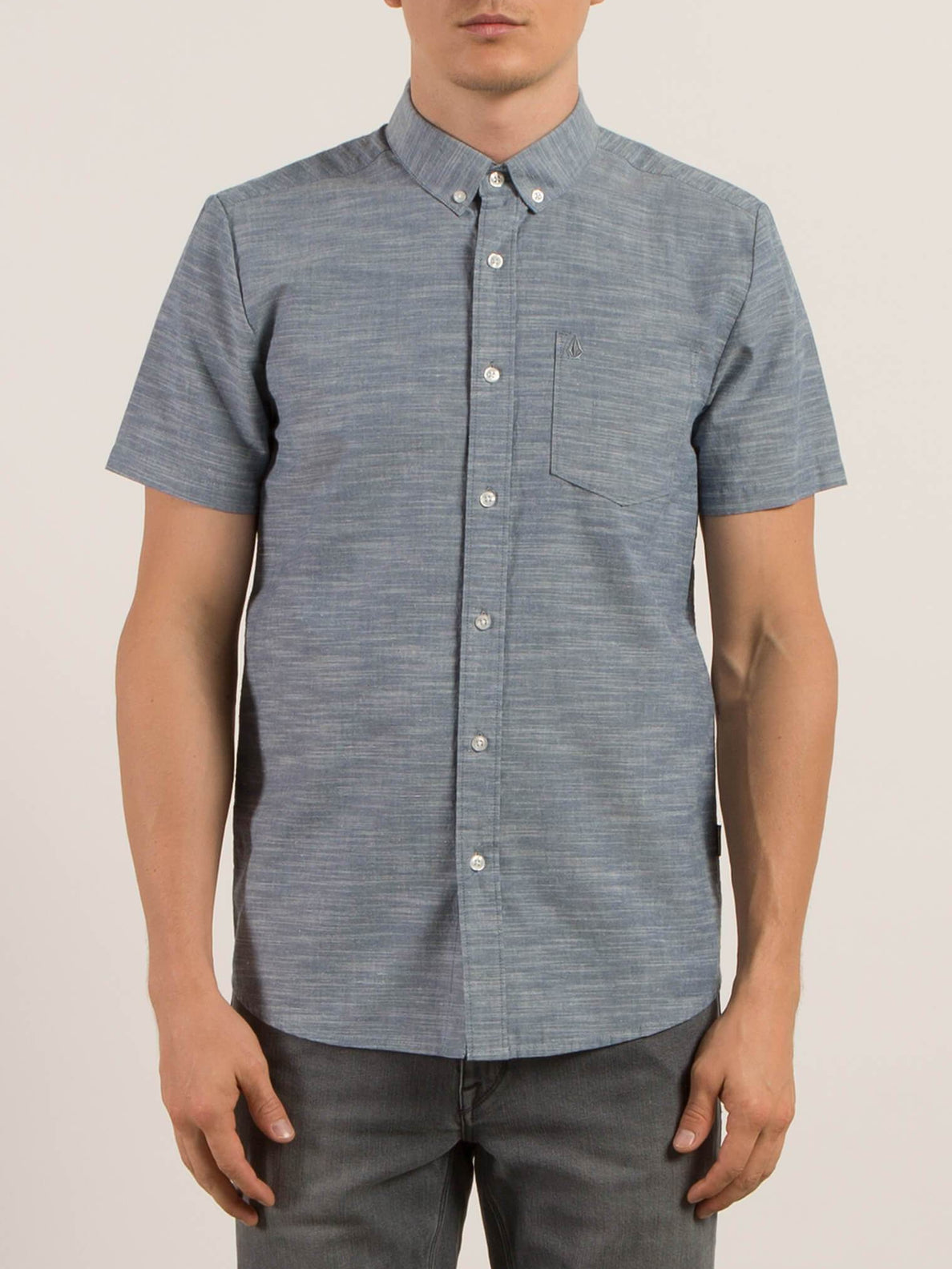 Camisa de manga corta Everett Oxford - Smokey Blue