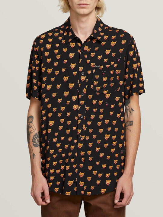 Camisa Ozzie Cat - Black