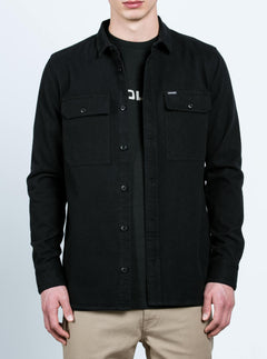 Camisa de manga larga Ketil - Black