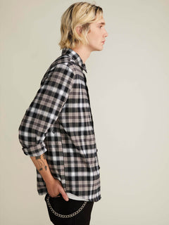 Camisa Caden Plaid  - Black