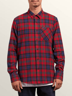 Camisa Caden Plaid  - Engine Red