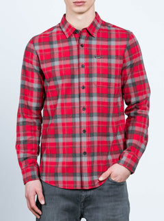 Camisa De Manga Larga Caden - Deep Red