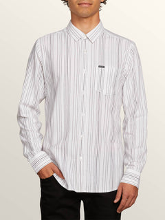 Clasher Long Sleeve Shirt - White