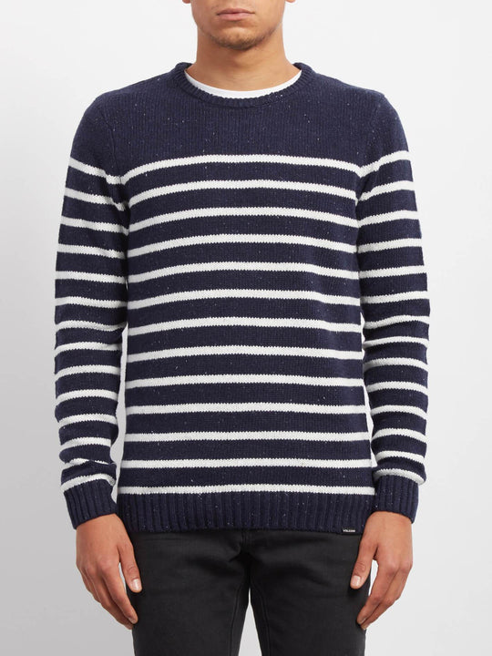 Sudadera Edmonder Striped - Navy