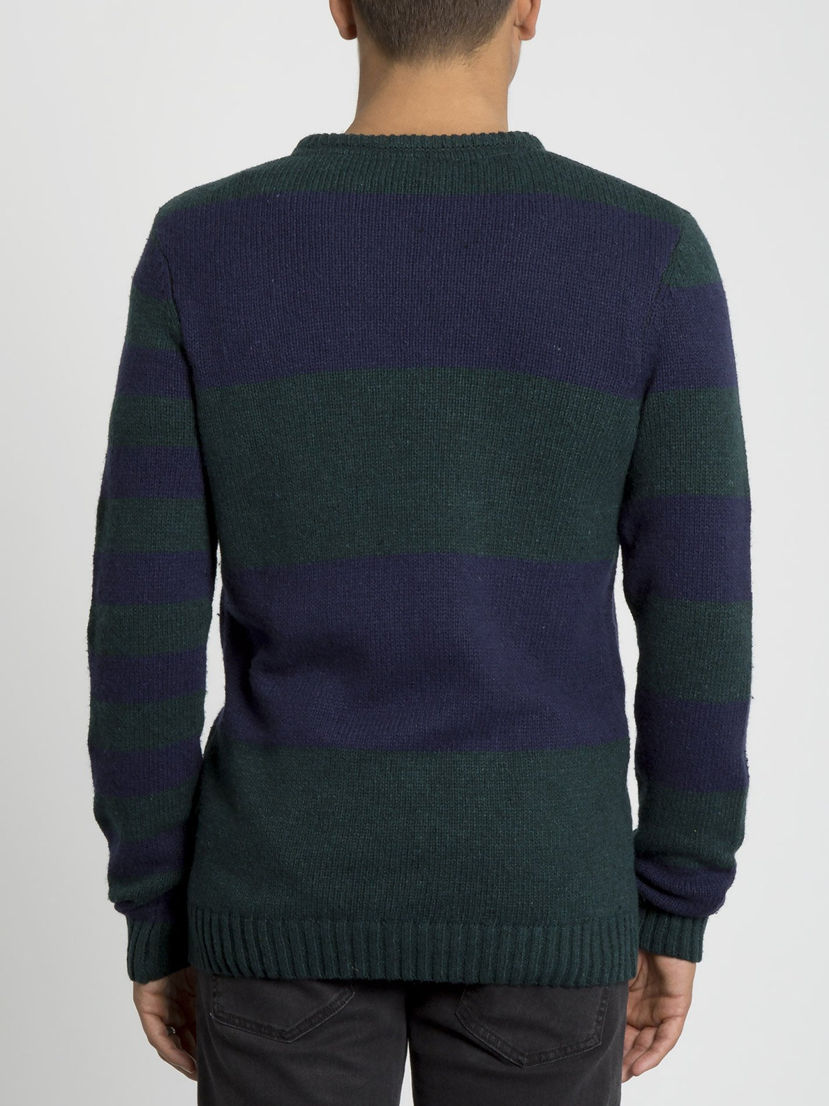 Edmonder Striped Sweater - Navy (A0731904_NVY) [B]