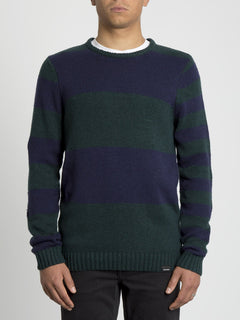 Edmonder Striped Sweater - Navy (A0731904_NVY) [F]