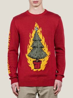 Jersey Warm Wishes con luces de navidad intermitente - Deep Red