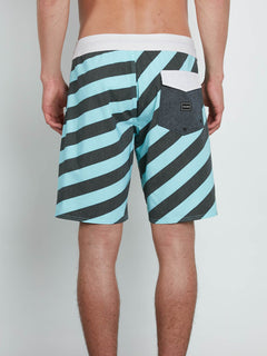 Boardshort Stripey Stoney 19 - Pale Aqua