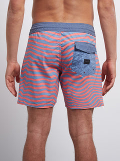 Boardshort Mag Vibes Stoney 16 - Scream Red
