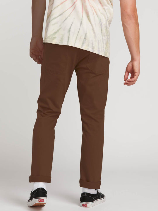 Pantalones Vorta Slub - Dark Brown