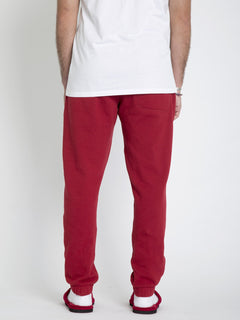 SANTASTONE FLEECE JOGGER - DEEP RED