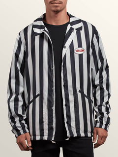 Chaqueta Brews Coach  - Black/White