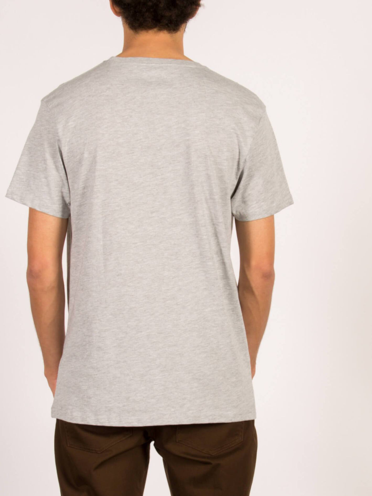 BURNT BSC SS HEATHER GREY