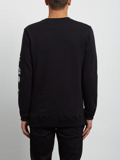 Sudadera de Cuello Redondo Supply Stone - Black