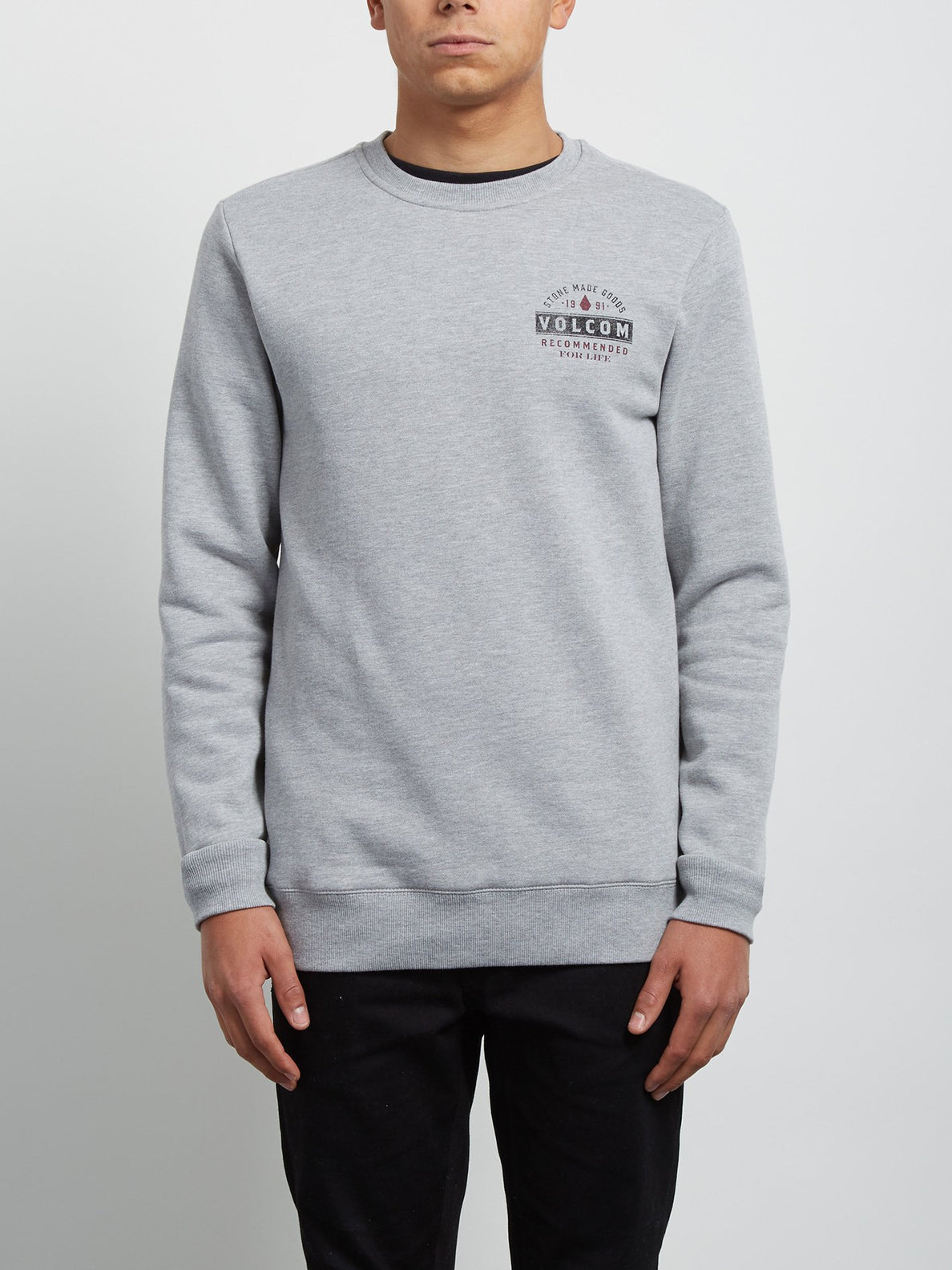 Sudadera de Cuello Redondo Supply Stone - Grey