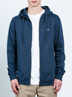 Sudadera Sngl Stn Zip - Blue Black
