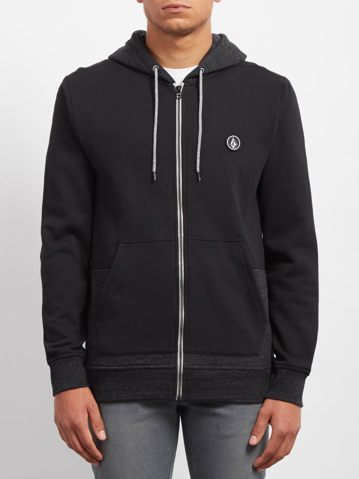 Sudadera Backronym Zip - Black