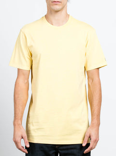 Camiseta De Manga Corta Lisa Pale Wash - Light Yellow