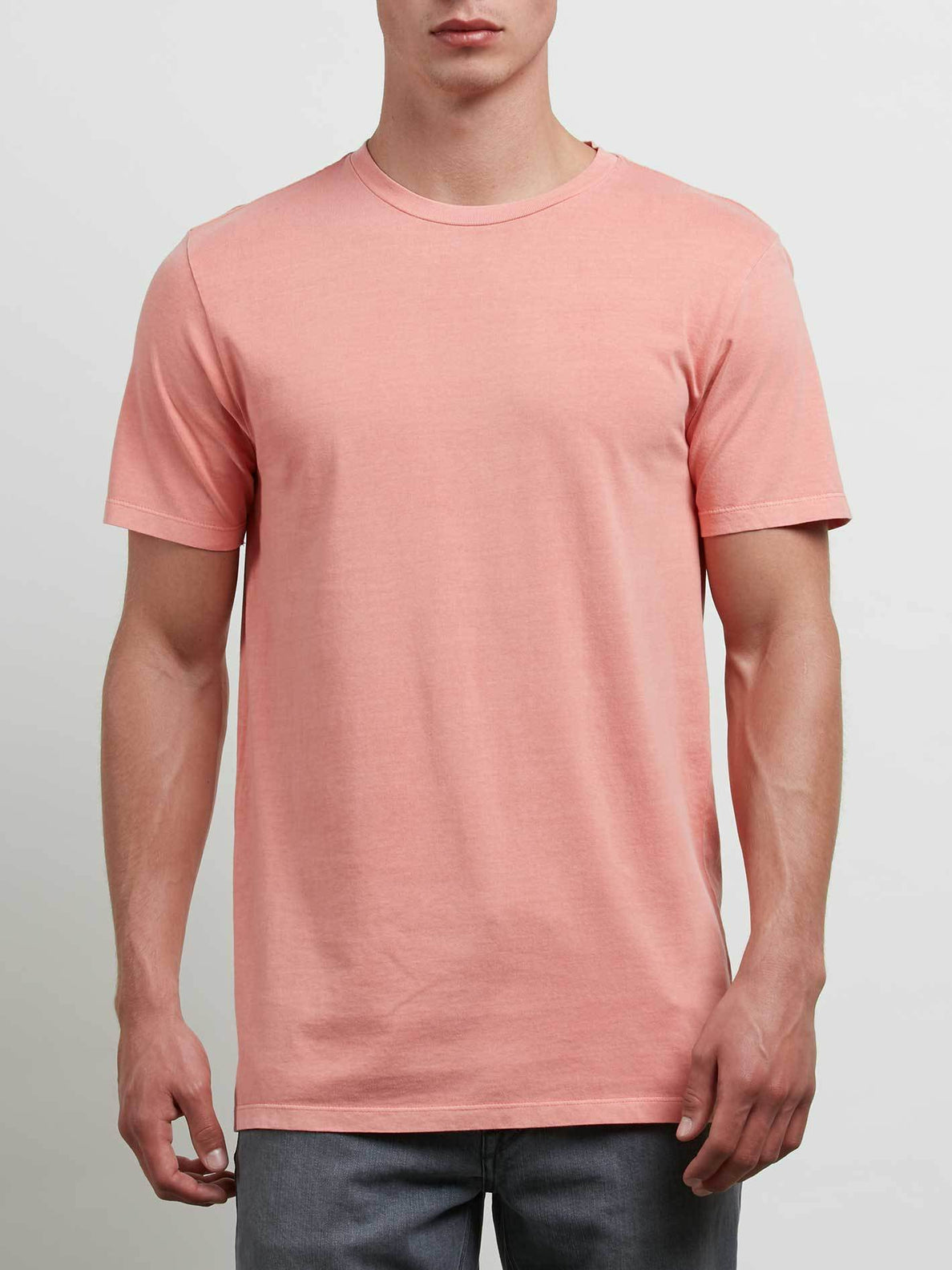 Camiseta De Manga Corta Lisa Pale Wash - Salmon