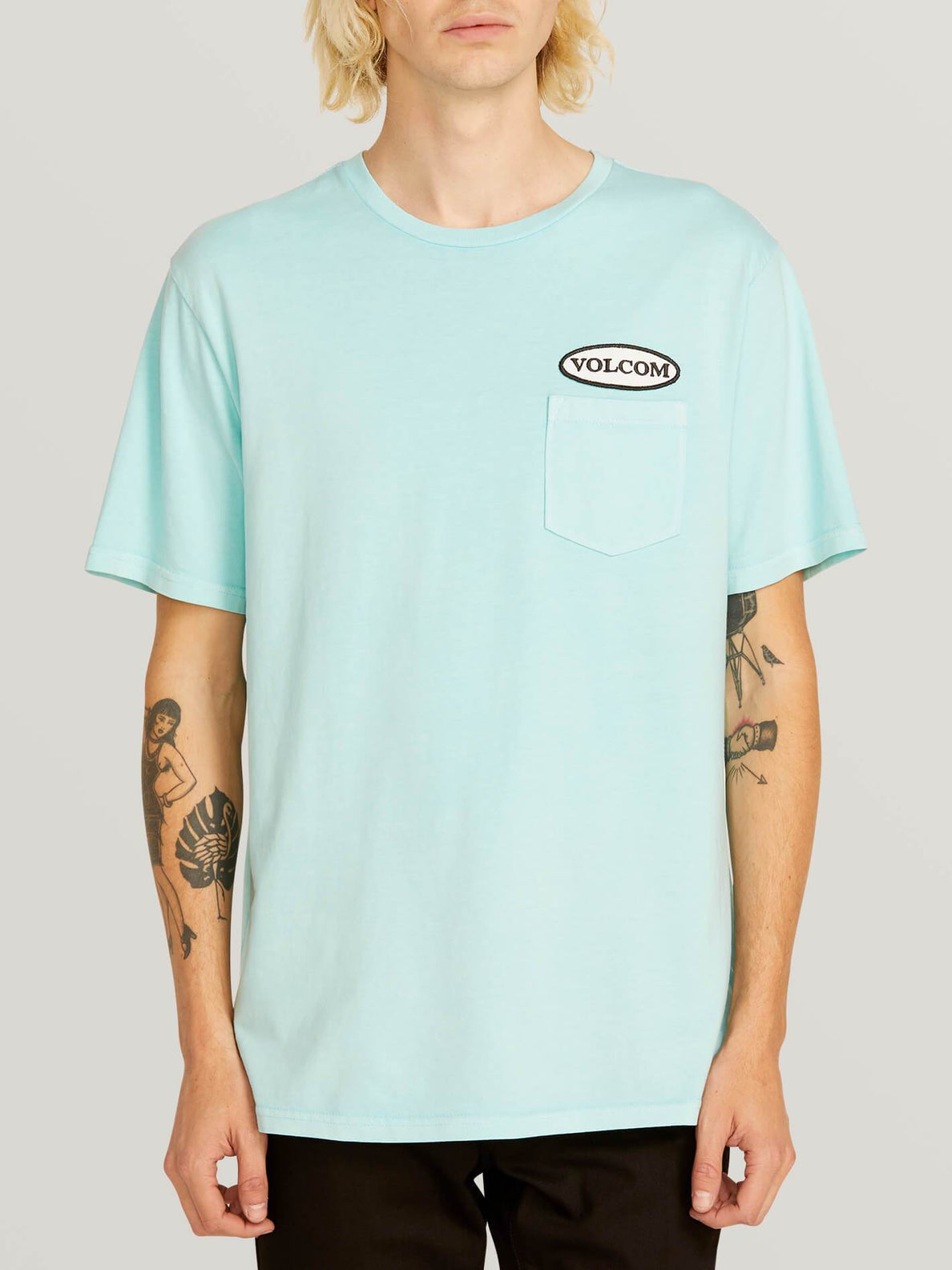 Camiseta Oval Patch - Pale Aqua