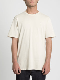 Solid Stone Emb T-shirt - White Flash (A5211906_WHF) [F]