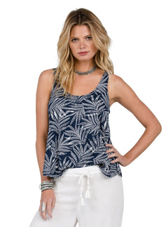 Camiseta de tirantes Touch My Sol - Sea Navy
