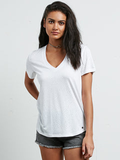 Camiseta con Escote en Pico Mix A Lot - White
