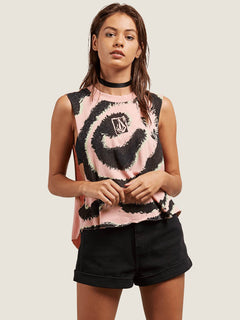 Camiseta Sin Mangas Magnetic Feels - Coral Haze