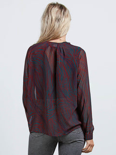Camisa Zebom Top - Burgundy