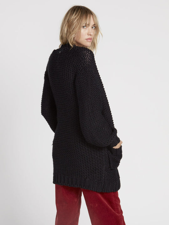 Knit List Cardigan - Black (B0731905_BLK) [B]