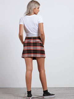 Falda Frochickie Skirt - Black Plaid
