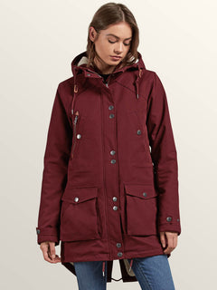 Chaqueta Walk On By  - Burgundy