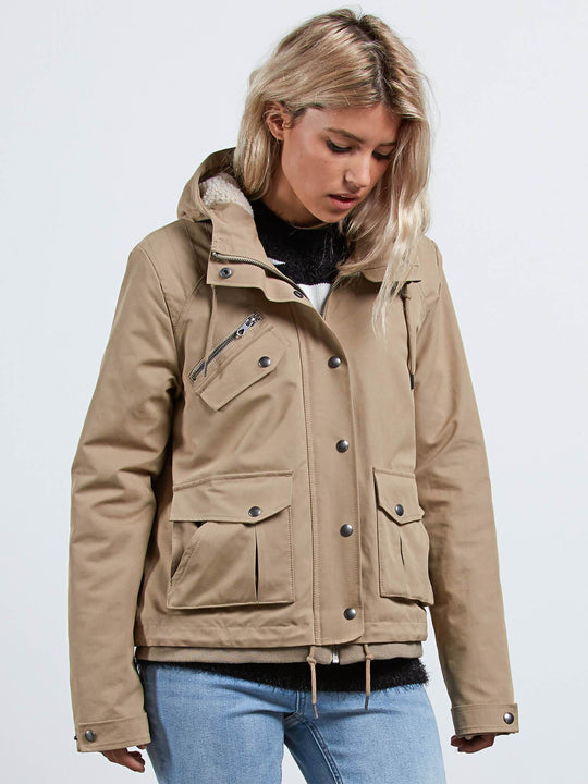 Chaqueta Walk On By Short  - Khaki
