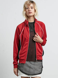 Chaqueta de Chándal True To Track - Chili Red